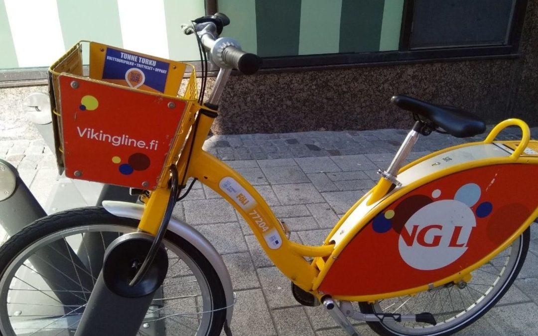 24 h City Bike Traffic in Turku