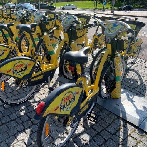 24 h City Bike Traffic in Helsinki